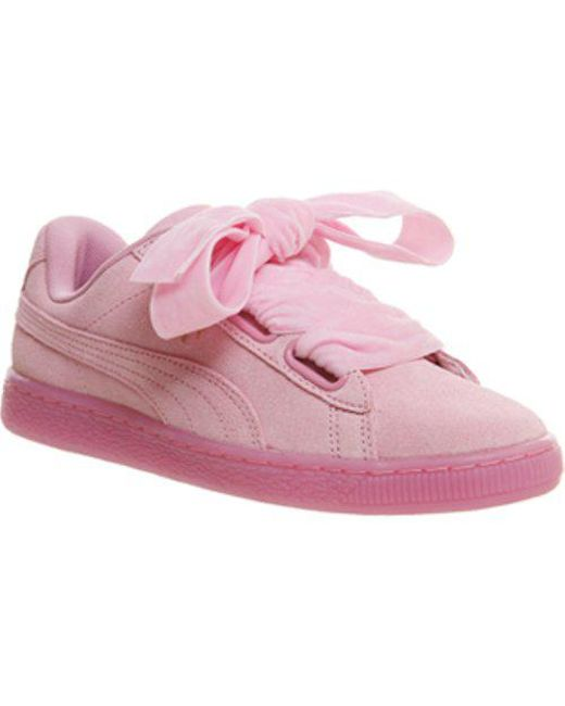Lyst - PUMA Suede Heart in Pink - Save 57.6271186440678% 4f8316e2d