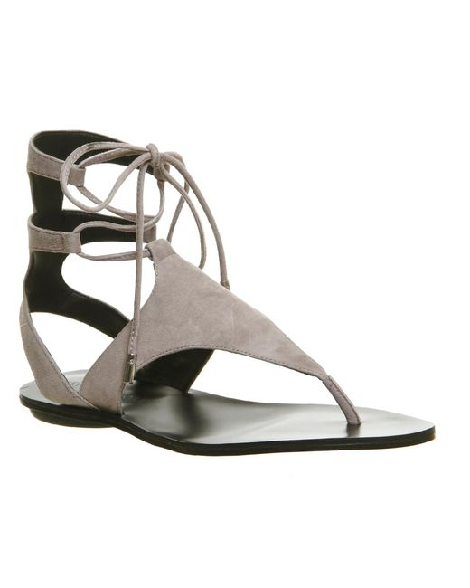 Kendall + Kylie | Natural Faris Ankle Tie Sandals | Lyst