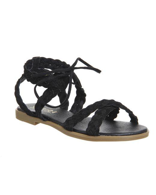 Office | Black Boho Plaited Sandals | Lyst