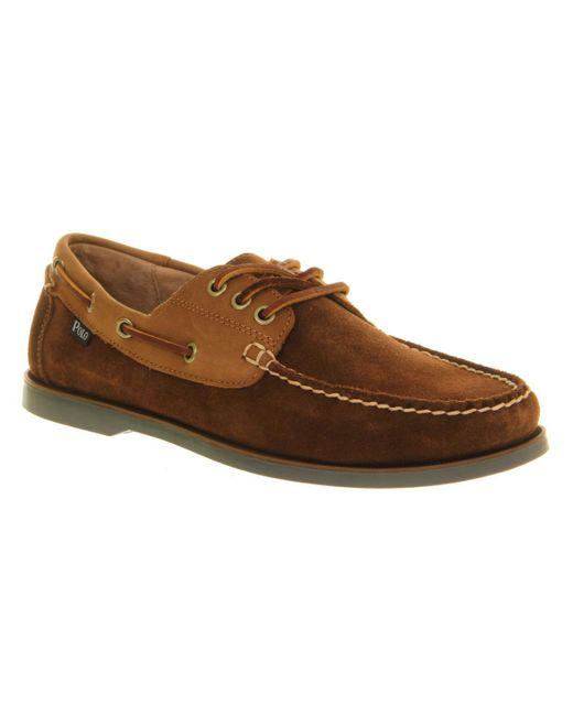 Ralph Lauren | Brown Bienne Boat Shoe for Men | Lyst
