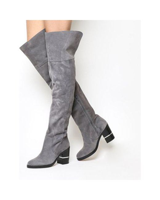 Office Gray Elemental Over The Knee Boots Lyst