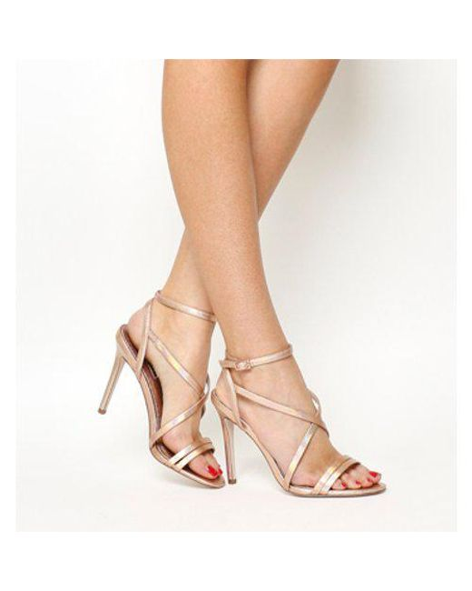 39e256da30e Office Hope Strappy Heeled Sandals in Pink - Lyst