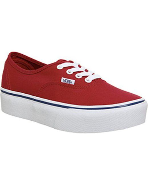 Women's Red Authentic Platform