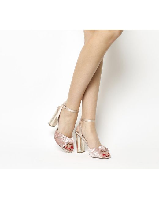 Office | Pink Natural Cylindrical Heel Sandals | Lyst