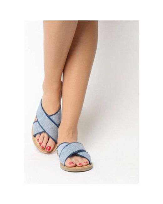 7e4a391162a165 TOMS Viv Sandal in Blue - Lyst