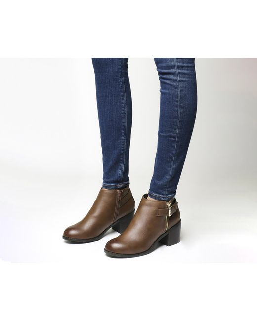 Office | Brown Academy Double Zip Boots | Lyst