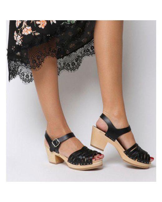 Office Swedish Hasbeens Suzanne Hi Peep Toe Sandal Clearance Cheapest Price XirEm7nQM