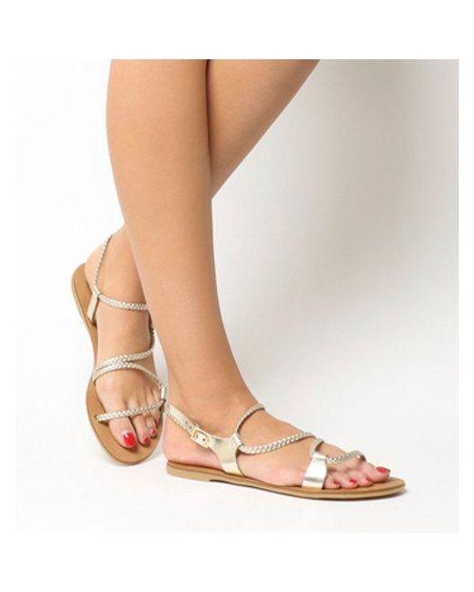 Office - Multicolor Spritz- Asymmetric Plait Sandal - Lyst