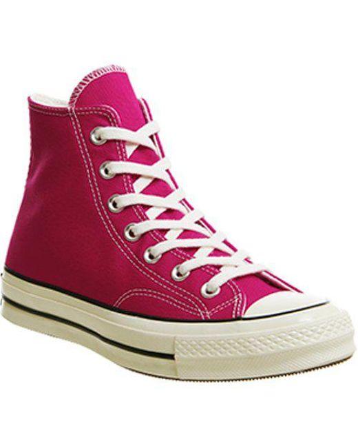 9508b67a9dbb Lyst - Converse All Star Chuck  70 Hi in Pink