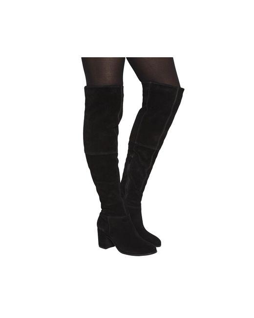 Office | Black Know It All Block Heel Knee Boots | Lyst