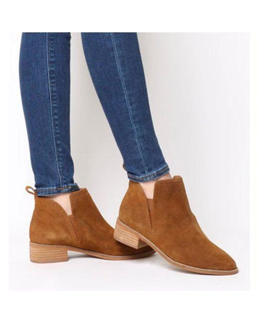 Office Blue Andreas Flat Ankle Boot Lyst
