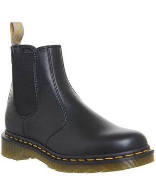 649afbfe3096 Dr. Martens Vegan 2976 Chelsea Boot in Black - Lyst