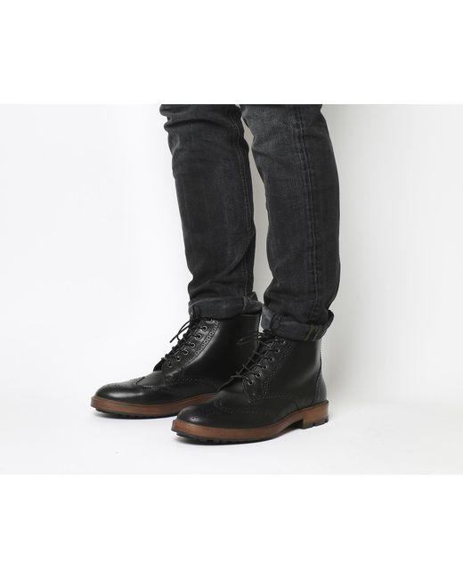 Office Black Ambador Brogue Boots For Men Lyst
