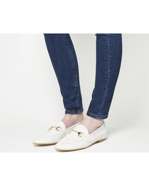 Office | White Destiny Trim Loafers | Lyst