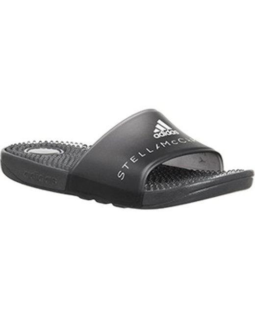 db6b6f8fb Lyst - adidas By Stella McCartney Adissage Slides in Black - Save 82%
