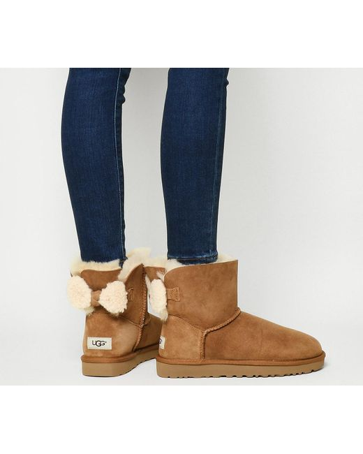 Ugg | Brown Arielle Bow Boots | Lyst