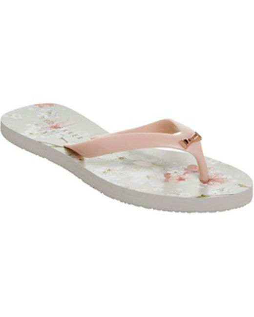 98b354452 Lyst - Ted Baker Aallo Flip Flop in Pink