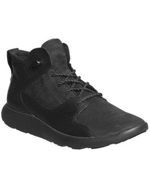 e2b482199d7 Timberland Flyroam Leather Hiker in Black for Men - Lyst
