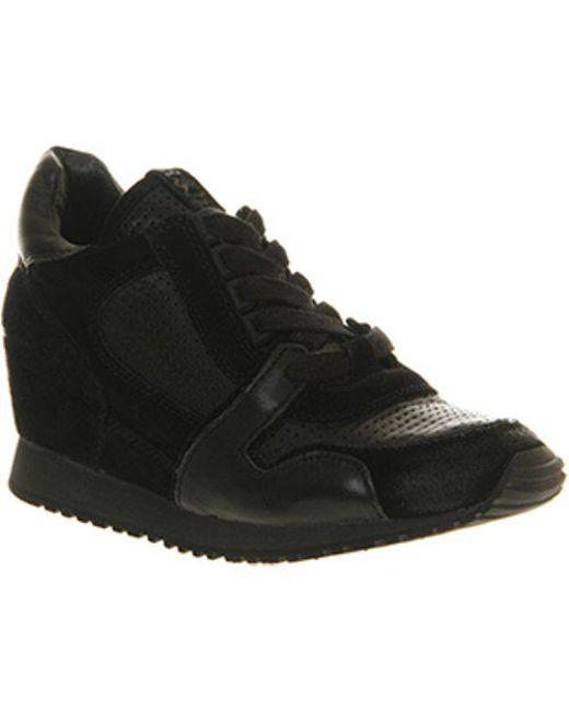 a9812694891 Lyst - Ash Dean Wedge Sneaker in Black
