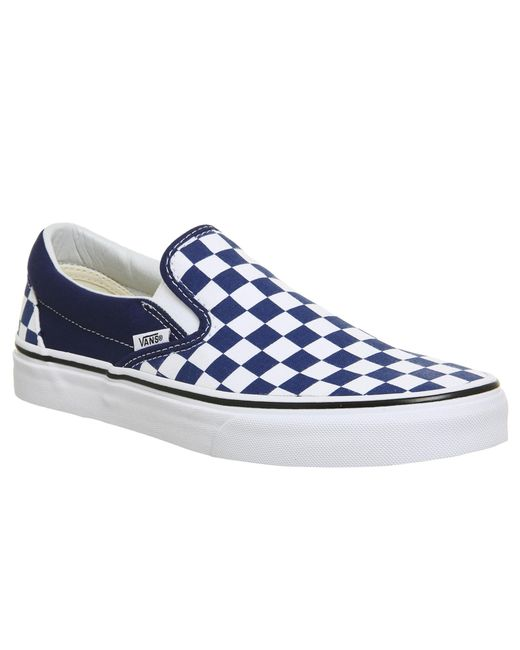 d8faa97f0232 Vans - Blue Classic Slip On Trainers for Men - Lyst ...