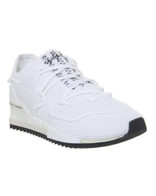 8c7cdac3f7706 Y-3 - White Y3 Haringane 2 Trainers for Men - Lyst ...