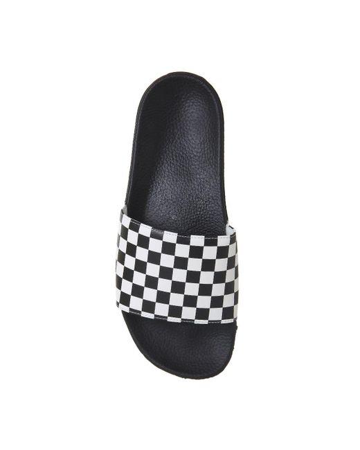 cae2c455dcc82c Lyst - Vans Mn Slide On in Black for Men - Save 41%