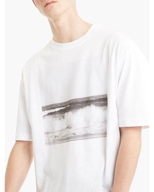 Raf simons x robert mapplethorpe waves t shirt in white for Raf simons robert mapplethorpe shirt