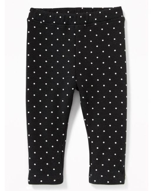 Old Navy - Black Printed Cozy-lined Leggings - Lyst