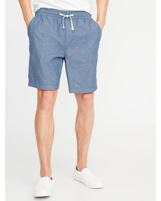 2881922c2a Old Navy Built-in Flex Twill Jogger Shorts in Blue for Men - Lyst