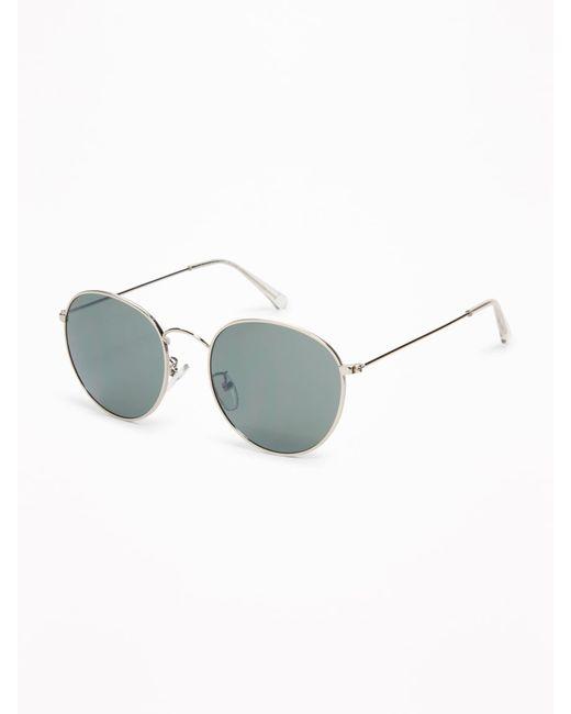 Lyst - Old Navy Retro Round Wire-frame Sunglasses in Metallic