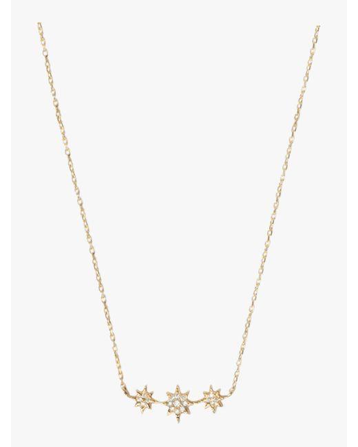 Anzie - Metallic Aztec North Star Bar Necklace - Lyst