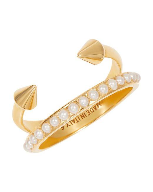 Vita Fede - Metallic Ultra Mini Titan Pearl Band Ring - Lyst