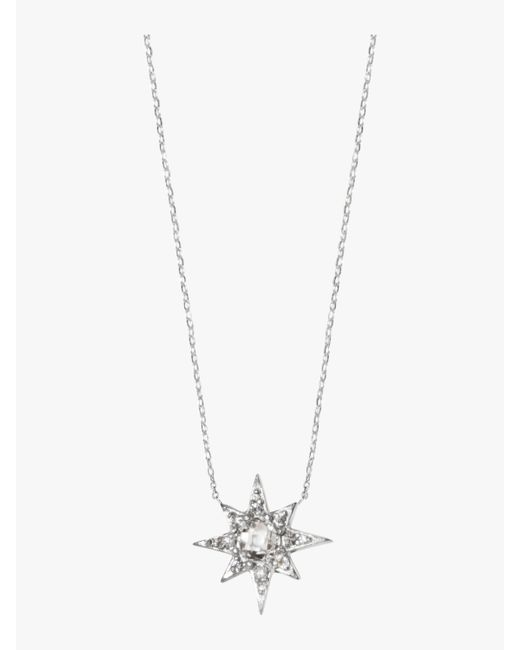 Anzie - Metallic Aztec Mini Starburst Necklace - Lyst