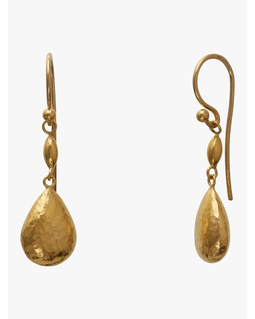 Gurhan - Metallic Short Delicate Drop Earrings - Lyst