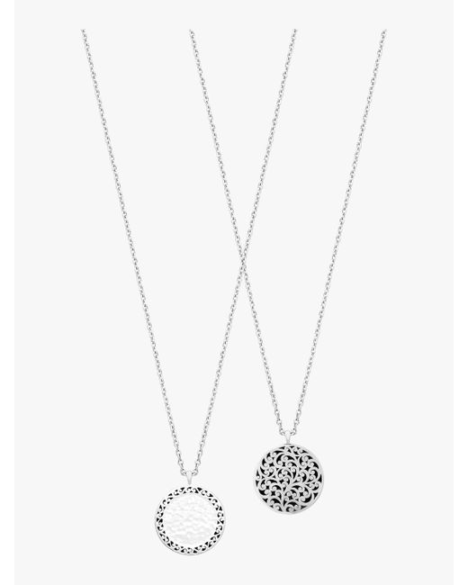 Lois Hill - Metallic Reversible Necklace - Lyst