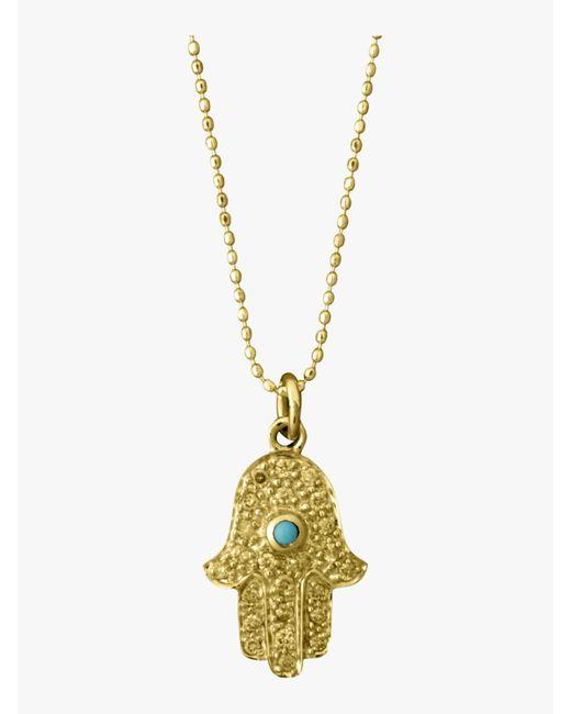 Sydney Evan - Multicolor Medium Hamsa Charm Necklace - Lyst