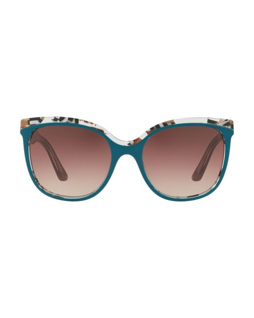 Burberry - Brown Marble Check Butterfly Cat Eye - Lyst