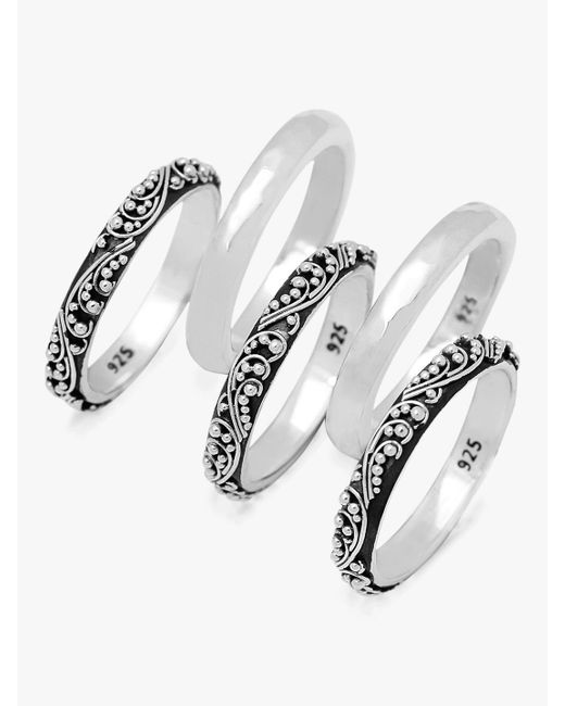 Lois Hill - Metallic Stacked Ring Set - Lyst