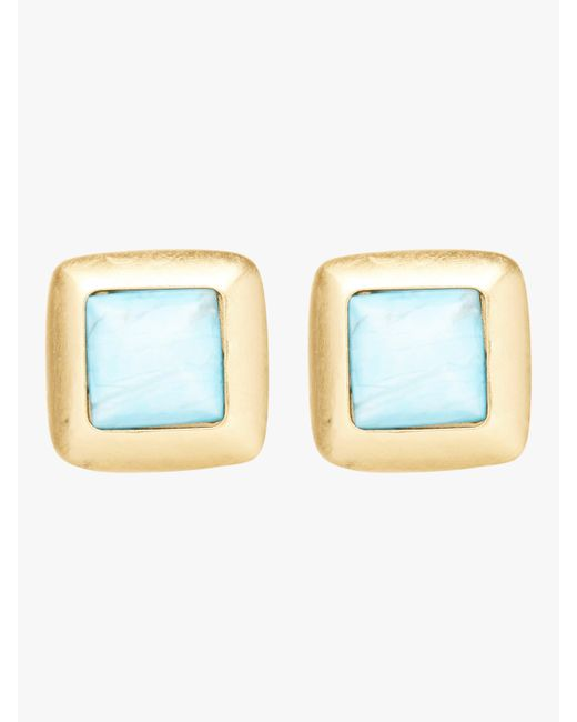 Stephanie Kantis - Metallic Crush Square Earrings - Lyst