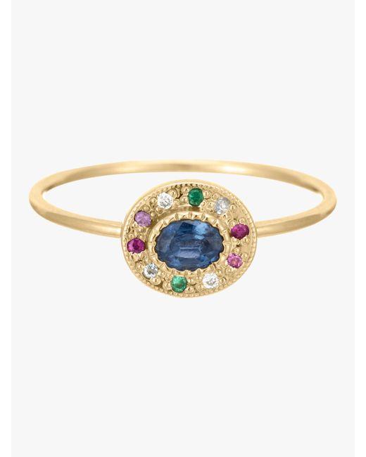 Jennie Kwon - Metallic Sapphire Halo Ring - Lyst