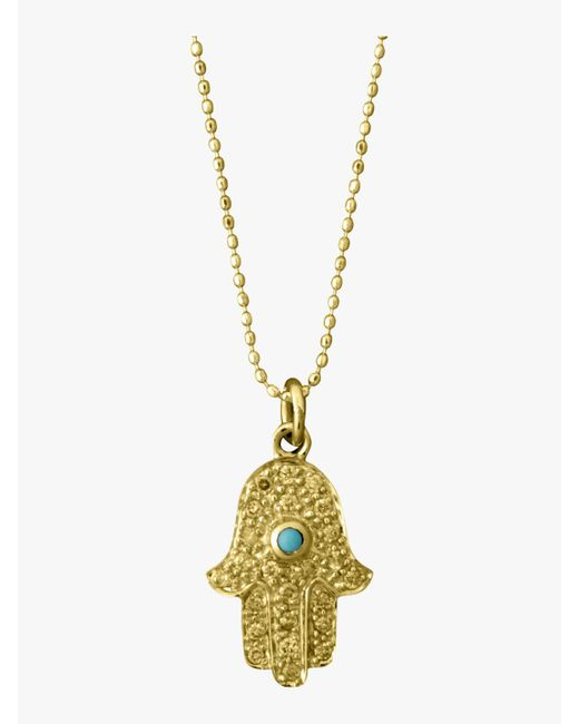 Sydney Evan - Multicolor Medium Hamsa Charm Necklace - Lyst