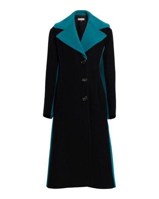 Emilio Pucci - Black Color Block Cashmere Wool Coat - Lyst