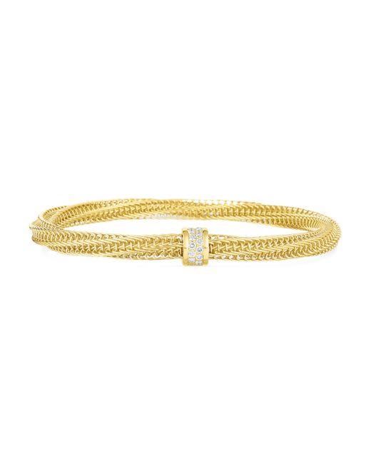 Roberto Coin - Metallic Primavera Diamond Woven Bangle Bracelet - Lyst