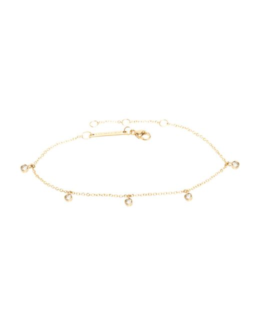 Zoe Chicco - Metallic Bezel Diamond Dangle Bracelet - Lyst