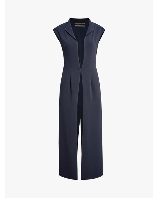 Hensely - Blue Long Structured Vest - Lyst
