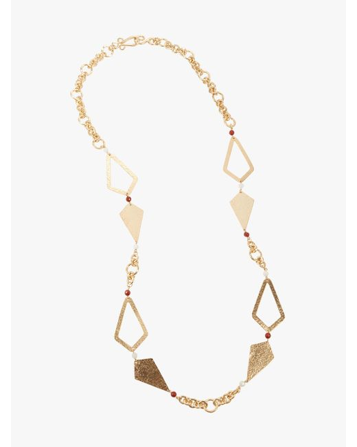 Stephanie Kantis - Metallic Hope Necklace With Red Jasper & White Quartz Necklace - Lyst