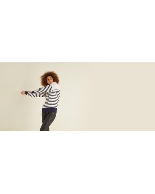 be561e259c ... Lyst Oliver Bonas - Blue Jaimee Breton Navy   White Sweater ...