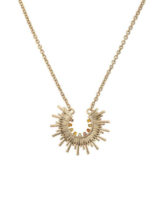 Oliver Bonas - Metallic Excitement Starburst Loop Pendant Necklace - Lyst