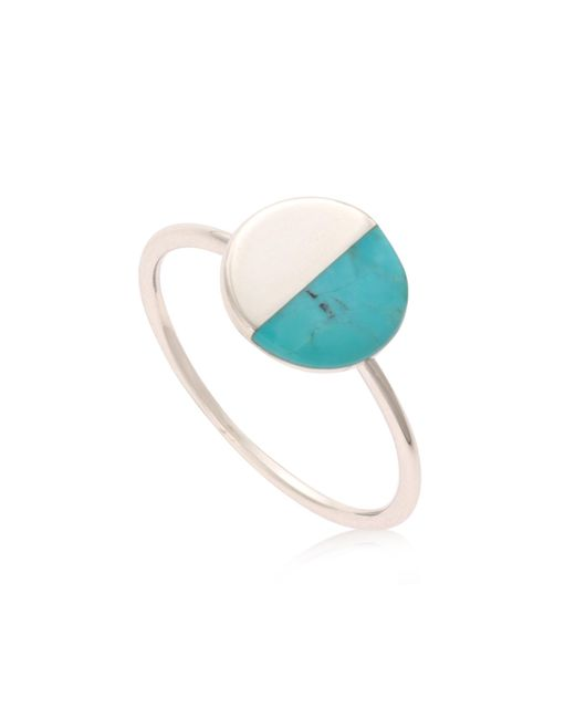 Oliver Bonas - Metallic Lyca Silver Semi Circle Ring - Lyst