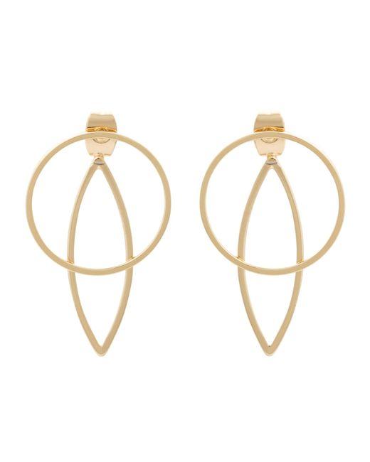 Oliver Bonas - Metallic Nisha Linear Teardrop Front To Back Earrings - Lyst